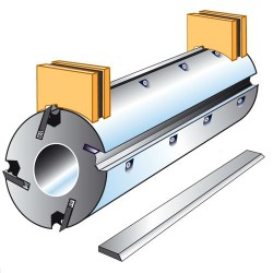 Juego reguladores magneticos de cuchillas para ejes de 70 mm.