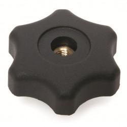 Mando SCALLOP hembra rosca pasante de 5 mm.