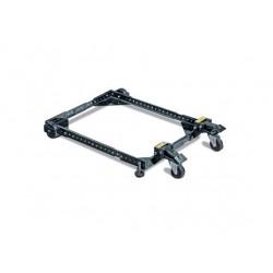 Base universal adaptable y ajustable a maquinas, con ruedas