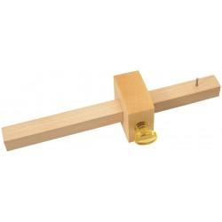 Gramil 1 punta en madera de haya barnizada