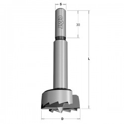 Broca tipo FORSTNER para madera de 10 mm.