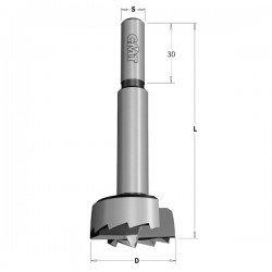 Broca tipo FORSTNER para madera de 40 mm.