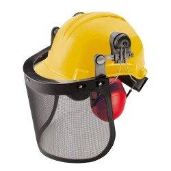 Casco con protección auditiva y visera de seguridad