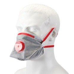 Mascarilla plegable con válvula contra polvos no tóxicos, fibras y vapor