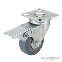 Rueda giratoria 125 mm. de polipropileno con freno