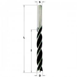 Broca helicoidal para madera de 9 mm. con punta de centraje