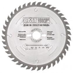 Sierra circular 260 mm. y 48 dientes para el corte transversal a la veta