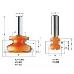 Fresa para tiradores de 9,5 mm. mango 8 mm
