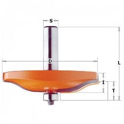Fresa realización plafones de puerta PERFIL B con mango 12 mm.
