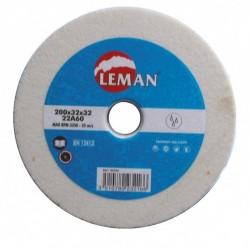 Muela de esmeril corindon blanco de 200 x 32 mm.