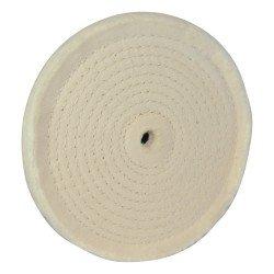 Rueda pulidora con diseño en espiral de 150 mm.