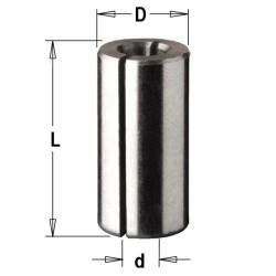 Casquillo reductor 12,7 a 6,35 mm. para fresadora portatil