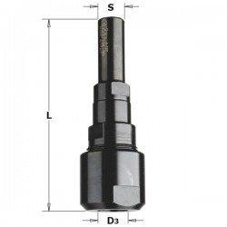 Prolongador eje de fresadora portatil con eje de 10 mm.