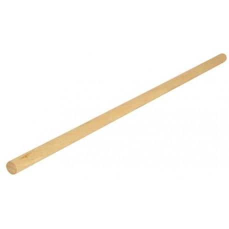 Varilla lisa de madera en haya de 6 x 1.000 mm.