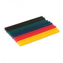 Barras termofusibles pequeñas de diferentes colores, 10 pzas