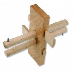 Gramil en madera Haya de 1 cuña y punta