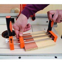 Prensa de seguridad para trabajar con pequeñas piezas