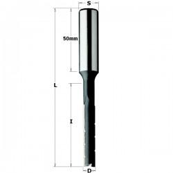 Broca escoplear giro derecha corte plano con rompevirutas de 6 mm.