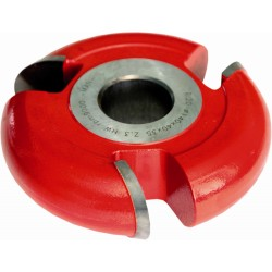 Fresa para 1/2 circulo interior radio 4 mm.