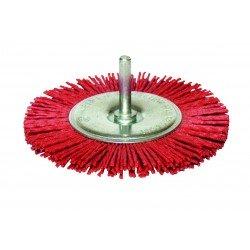 Cepillo 100 mm. para taladro de NYLON para decapado suave