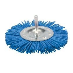 Cepillo circular abrasivo con filamentos suaves de 75 mm.