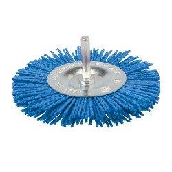 Cepillo circular abrasivo con filamentos suaves de 100 mm.