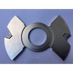 Portacuchillas intermedio de 7,6 mm espesor y 120 diámetro
