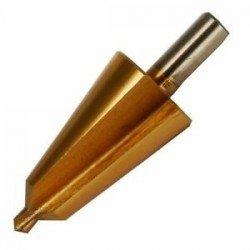 Broca cónica HSS con revestimiento de titanio 16-30 mm.