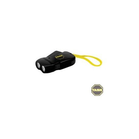 Linterna recargable doble LED con recarga mediante dinamo