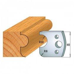 Juego contracuchillas perfiladas para tupi referencia 801.003