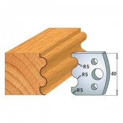 Juego contracuchillas perfiladas para tupi referencia 801.005