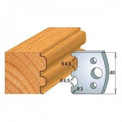 Juego contracuchillas perfiladas para tupi referencia 801.006