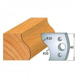 Juego contracuchillas perfiladas para tupi referencia 801.009