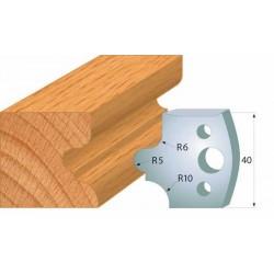 Juego contracuchillas perfiladas para tupi referencia 801.011