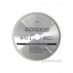 Sierra circular de widia para el corte de aluminio y PVC de 250 mm.