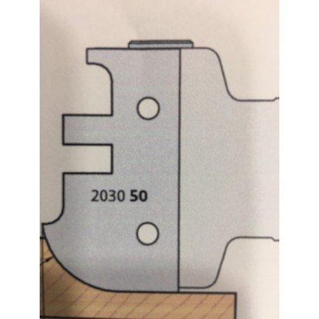 Juego 2 cuchillas perfil 2030-50