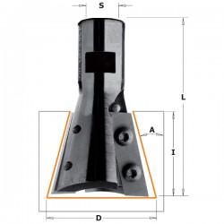 Portacuchillas freidora junta cola milano a 15º valido sistema ARUNDA