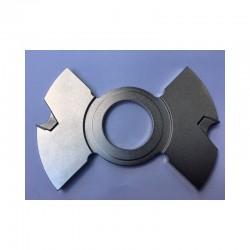 Portacuchillas intermedio de 12 mm espesor y 140 diámetro