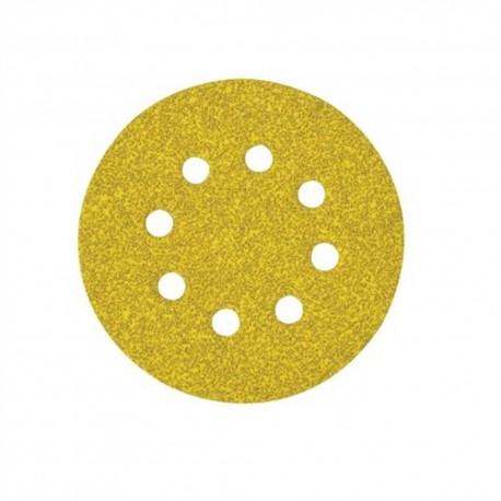 Disco de lija con velcro de 125 mm y 8 agujeros grano 60