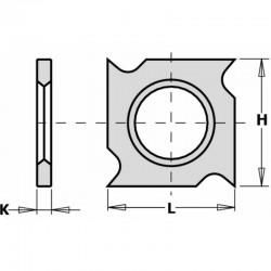 Cuchilla widia integral 4 cortes 48,3 x 12 x 1,5 mm. caja de 10 unidades