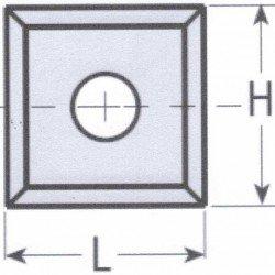 Cuchilla reversible en widia 14 x 14 x 1,2 mm. caja 10 unidades