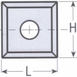 Cuchilla reversible en widia 14 x 14 x 2 mm.