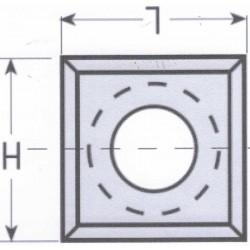 Cuchilla reversible widia de 15 x 15 x 2,5 mm. caja de 10 unidades