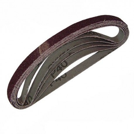 Paquete 5 bandas en tela 10 x 330 mm. grano 40
