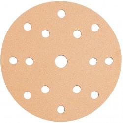 Disco de lija con velcro de 125 mm y 8 agujeros grano 80
