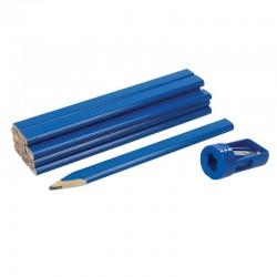 Paquete de 12 lápices de carpintero con sacapuntas especial