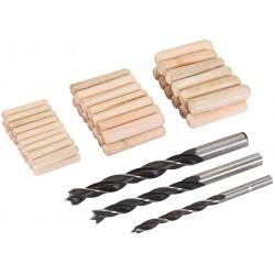 Juego de brocas y espigas para ensamblaje de madera referencia 675264