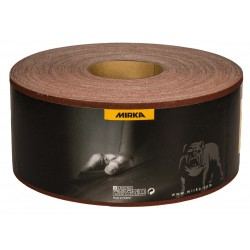 Rollo lija en tela 115 mm. x 50 metros grano 80 HIOLIT JF