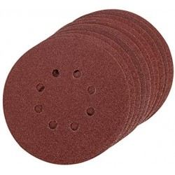 Disco Velcro 150 mm. 6 + 8 agujeros GOLD grano 80