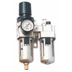 Filtro de agua + lubricador con regulador de presión